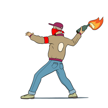 rampage: this is an illustration of street protester