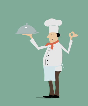 chef s hat: This is an illustration of a chief cook
