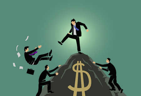 this is an illustration about competitive capitalism essence Stock Illustratie