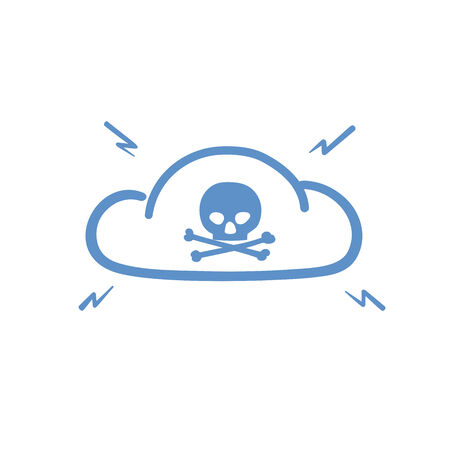hacked: This is an illustration of hacked internet cloud Illustration