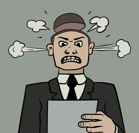 This is an illustration of an angry manager