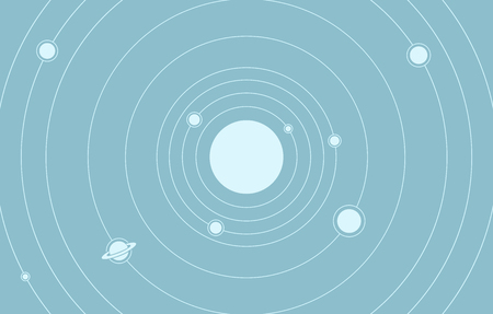 This is an abstract composition of solar system