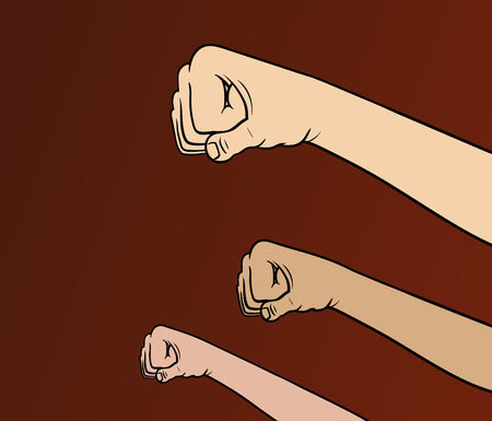 fist: This is an illustration about revolution theme