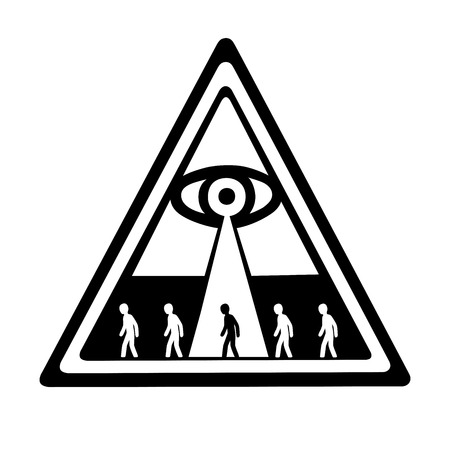 これは陰謀説のグローバル コントロールの図  イラスト・ベクター素材