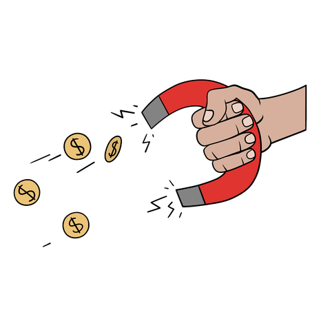 This is an illustration of a Money magnet