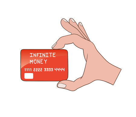 plastic card: This is a plastic card with infinite balance