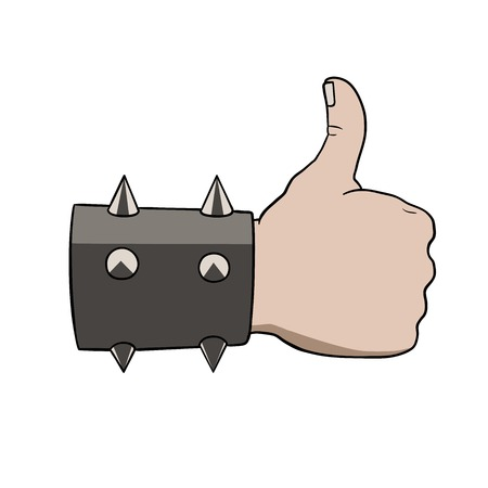 This is an illustration of brutal thumbs up