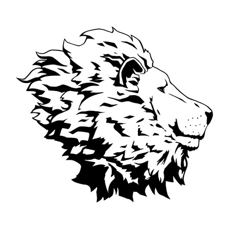 This is an illustration of lion head Vector