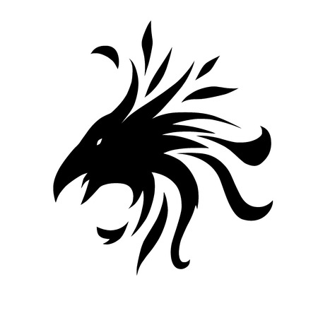 This is an abstract symbol of crow Vector