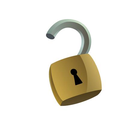 illustration of unlocked padlock