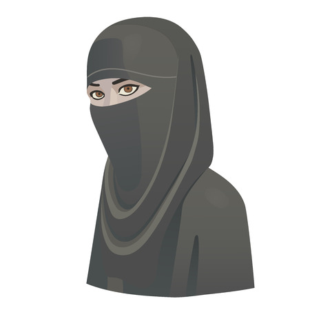 niqab: This is the illustration of the woman in niqab