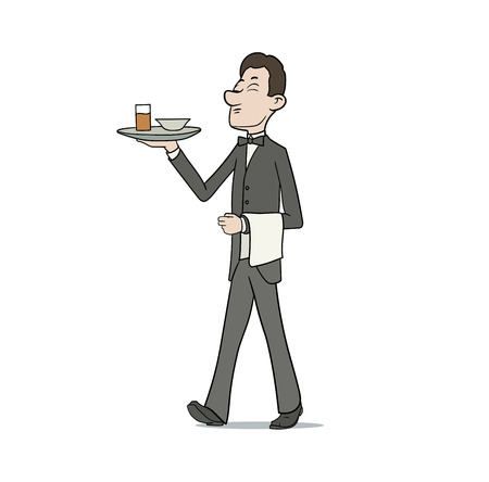caterer: This is the illustration of waiter. EPS 10