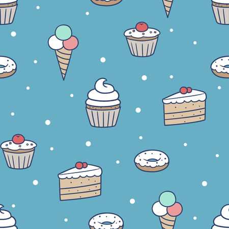 confection: This is a seamless confection pattern. EPS 10