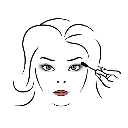 front of the eye: This is the illustration of woman makeup