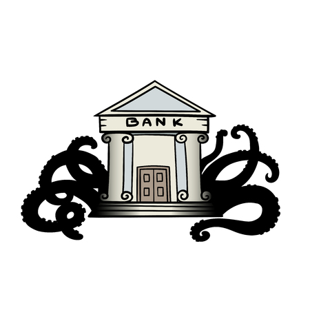 This is the illustration of Evil bank Vector