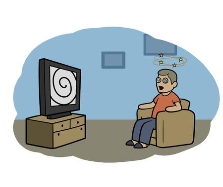 これはテレビのゾンビのイラスト