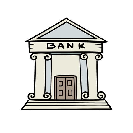 bank building: This is the illustration of bank. Illustration