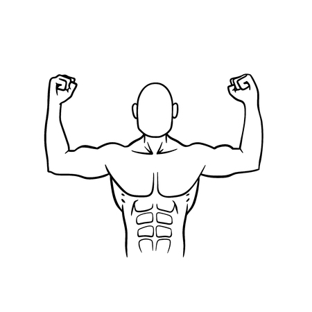 pectoral: This is the illustration of an athlete