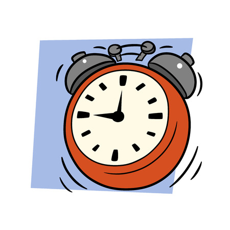 This is an illustration of ringing alarm clock Vector