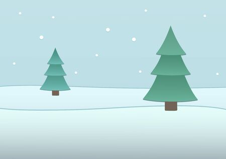 firtrees: This is the background with snow and fir-trees