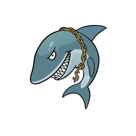 liar: This is the illustration of business shark Illustration
