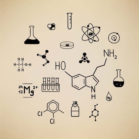 This is an illustration with chemical symbols