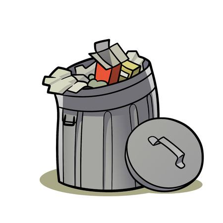This is an illustration of a trash can Illustration