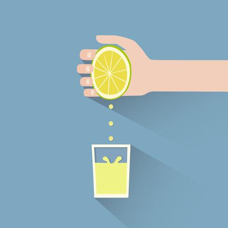 limon caricatura: Se trata de una mano apretando un lim�n