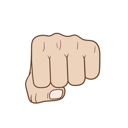 hassle: This is a fist in front view Illustration