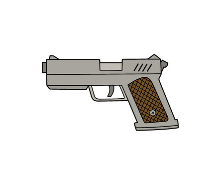 ejector: This is an illustration of a pistol