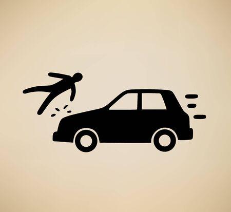 pedestrian: This is an illustration of pedestrian hit