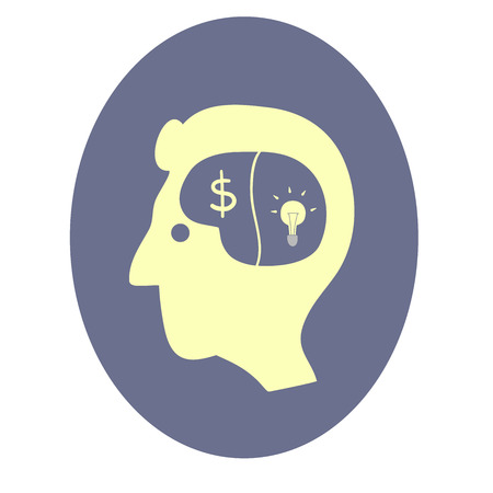 This is a head with light bulb and dollar symbol Vector