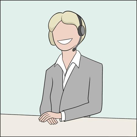 This is an illustration of callcenter operator Illustration