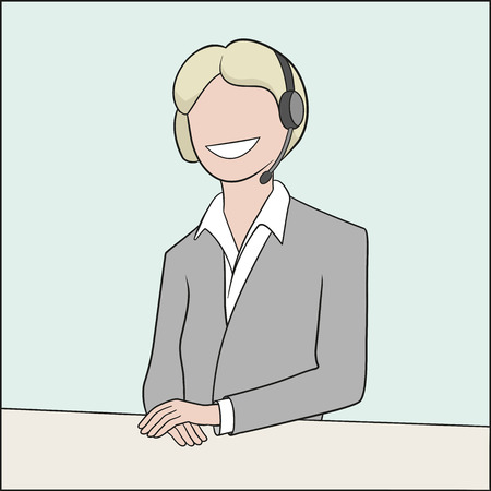 This is an illustration of callcenter operator Vector