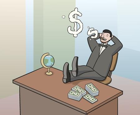 swindler: smoking businessman