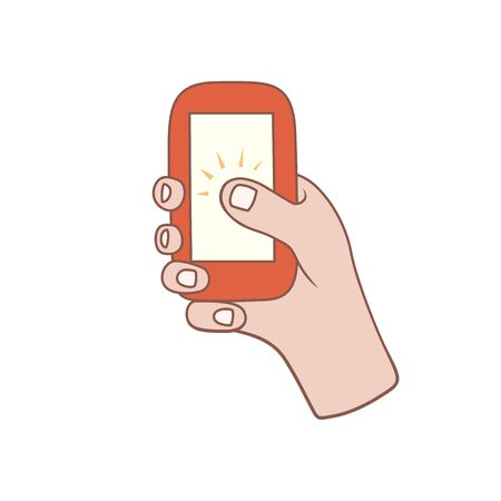 personal point of view: Hand with phone