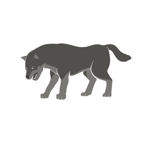 sneak: This is an vector illustration of wolf