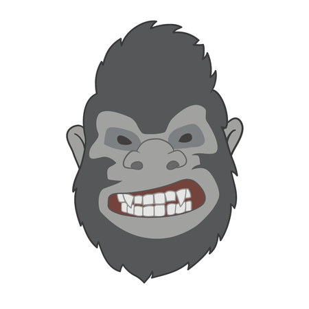 This ia an illustration of gorilla face Vector