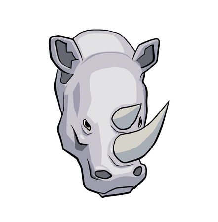 hoofed: This is a vector illustration of rhinoceros