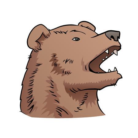 cruel: This is an illustration of bear head