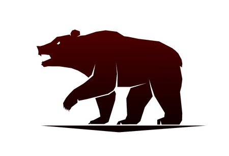 a side: This is a vector illustration of bear Illustration