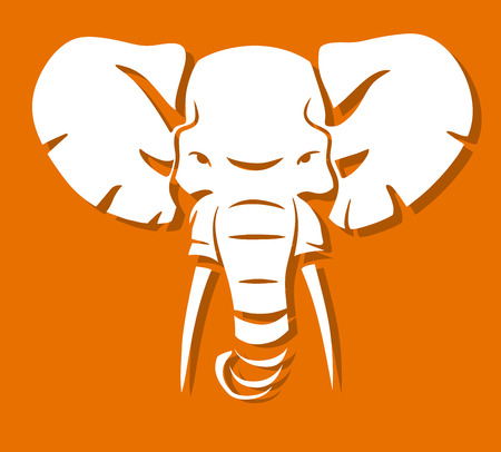elephant angry: This is an illustration of elephant head