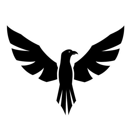 Dit is een vector illustratie van een havik tatoeage