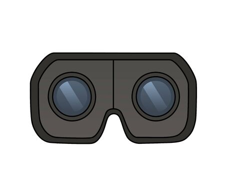 virtual reality simulator: This is an illustration of Virtual reality glasses Illustration