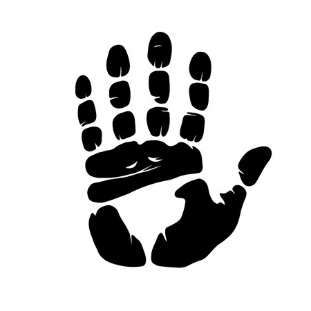 This is an illustration of hand imprint