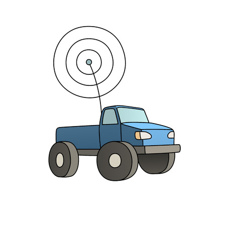 4wd: This is an illustration of an rc car Illustration