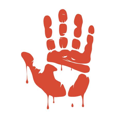 symbol hand: Dies ist eine Darstellung der Blutspur