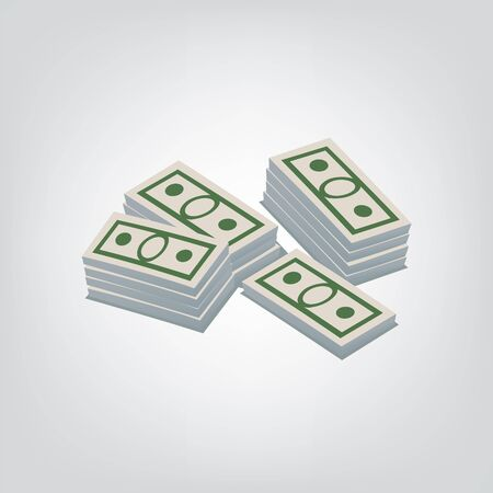 purchasing power: This is an illustration of pack of dollars Illustration