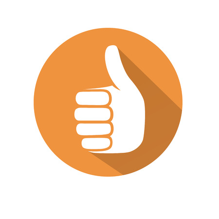 This is an illustration of thumb up gesture Stock Illustratie