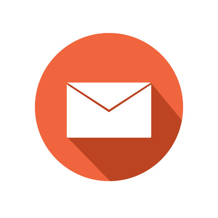 email icon: This is a vector illustration of letterbox